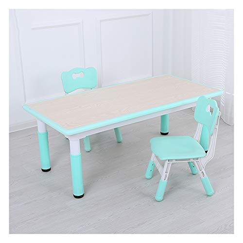 CHAXIA Chaise De Table Enfant Ensemble Tables Et Chaises en Plastique Enfant en Mangeant Apprendre Table À Jouets Multifonction Rectangle Les Tables, 9 Couleurs en Option (Color : C)