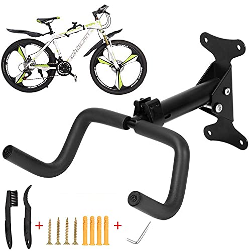 Bike Wall Mount, Horizontal Metal Adjustable Bicycle Rack Holder Hook for Road Bike, Mountain Bike,...