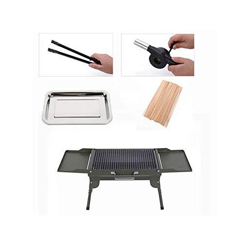 Draagbare Barbecue, Koffergrill, Multifunctioneel Opvouwbaar 5 Personen of Meer Grote Bbq Grill, voor Thuis Buiten Tuin Kamperen Picknicken Koken