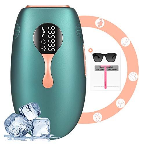 IPL Geräte Haarentfernung, Enow Laser Eis Kühlsystem Epilierer Mit 999,999 Lichtimpulse Haarentfernungsgerät, Dauerhafte Schmerzlose Ipl Haarentfernung für Körper, Gesicht, Bikini-Zone & Achseln