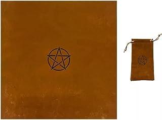 EODNSOFN Nappe en velours avec sac Motif pentagramme