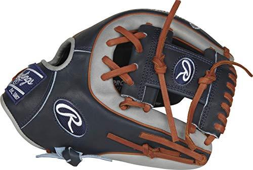 Rawlings Herren PROR314-2NG 11 1/2 I/CV Baseball-Handschuh, Navy/Grey/Timberglaze-R2G-Infield, 11.5