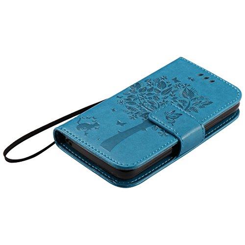 Nancen Compatible with Handyhülle Huawei Ascend Y3 / Y360 / Y336 Flip Schutzhülle Zubehör Lederhülle mit Silikon Back Cover PU Leder Handytasche im Bookstyle Stand Funktion Kartenfächer - 5