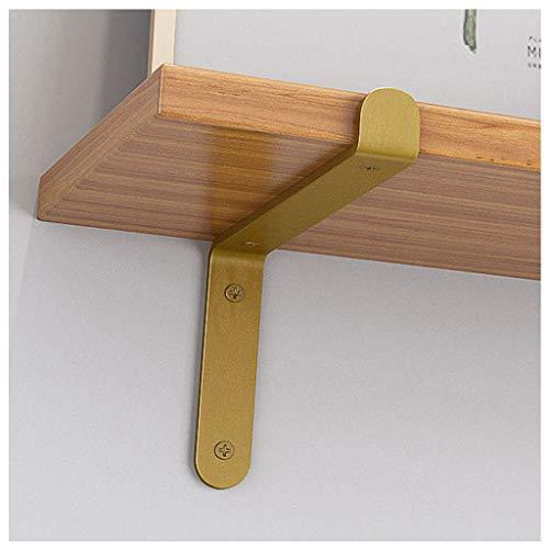 2 Stück Metall Regalträger, Wandregalträger & Halterungen Scaffold Leiste Gold Display Racks (10cm, 15cm, 20cm, 25cm) (Size : 10cm)