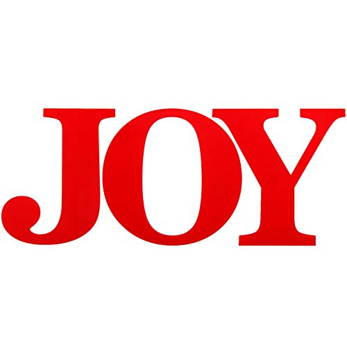 3 Pieces 12 Inch Wooden Large Joy Letter Home Sign Christmas Wooden Letter for Home Wall Decoration (Red)