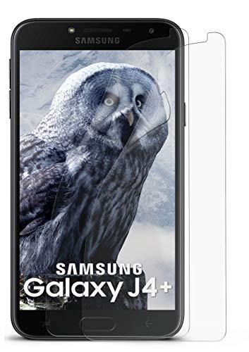 MoEx® Matte Anti Reflex Bildschirmschutzfolie passend für Samsung Galaxy J4+ | Gegen Reflexionen und Fett-Finger - Entspiegelt