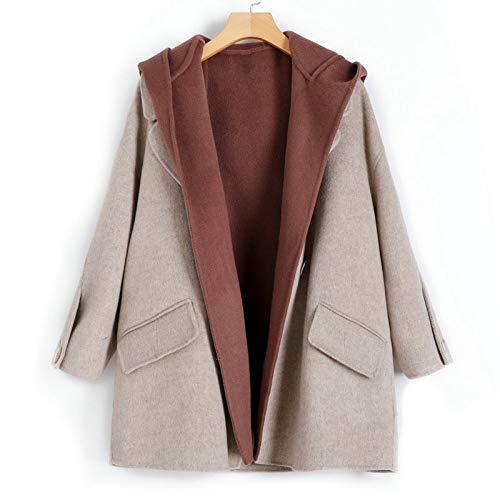 JIN Einfarbig Wollmantel Handgefertigt Winter Warm Overcoat Outwear Frauen Doppelseitig Wolle & Kaschmir-Jacke Damen Kurz Zwei Stück Trenchcoat Trend/A/S