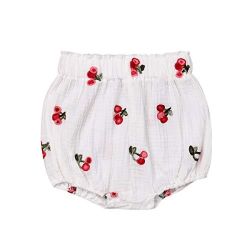 Grace&Nora Pantalones cortos con estampado de frutas para bebés y niñas