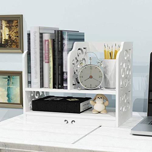 YLCJ boekenkast met verstelbare planken voor het opbergen van koffers van hout, wit A + (afmetingen: 40 x 22,5 x 32 cm) 40x22.5x32cm
