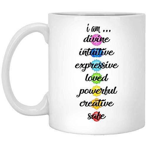N\A ool Chakras Coffee Mug Yoga Meditation Namaste Gift Yoga Lovers Best Mug Taza Blanca 190520
