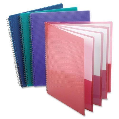Esselte Oxford Poly 8-Pocket Folder - Letter Size - 9.1 x 10.6 x 0.4 (Colors May Vary) (2)