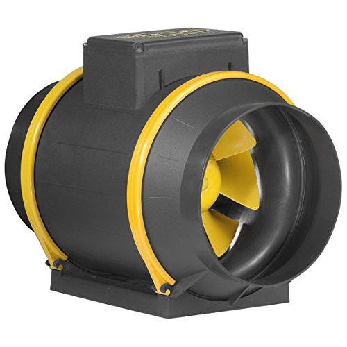 CAN Fans 4PS15006002 Extractor MAX-Fan Pro Series con 2 Velocidades, Amarillo, 33x26x23 cm