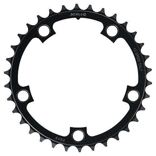 Sram 148006 34T 5 Bolt Chain Ring, 110 mm BCD Aluminium, Black