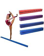 Dripex - Viga de equilibrio de gimnasia plegable para niños, entrenamiento de piel sintética, 210 cm, azul
