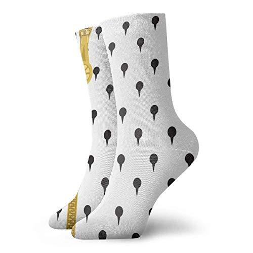 Bruno Buccellati Pattern V2 Calcetines clásicos de ocio deporte calcetines cortos 30 cm/11.8 pulgadas adecuado para hombres y mujeres