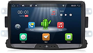 Android 9.0 Double Din Car Stereo for Renault Duster/Dacia Sandero/Lada Xray 2/Renault Captur/Logan 2-8 Inch Car Audio GPS Navigation Head Unit Support WiFi 4G Bluetooth SWC Google Free Camera Canbus