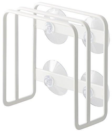 山崎実業 吸盤まな板スタンド ホワイト 約W12×D6×H12cm プレート まな板スタンド 3499