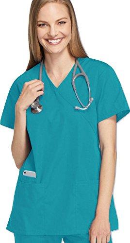 Smart Uniform S 1224 Scrub Mock Top (S, Knickente [Teal] 1)
