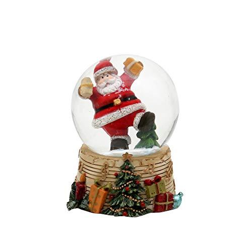 Bola de nieve – alegre Papá Noel con regalos – Dimensiones (alto...
