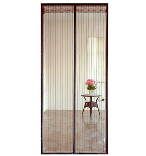 Magnetische Fly Screen Door, Heavy Duty Bug Mesh Gordijn met krachtige magneten Encryption And Magic Tape, Insect Protection deur niet Gap, Keep Bugs Out Lets frisse lucht,Brown,140 * 240cm