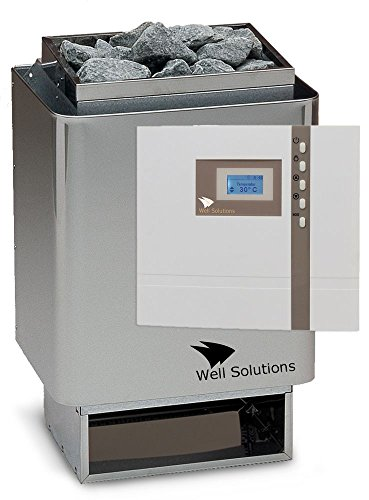 Well Solutions Edelstahl Sauna Ofen 34A 7,5 kw mit Premium Steuerung Econ D1 Saunatechnik Made in Germany