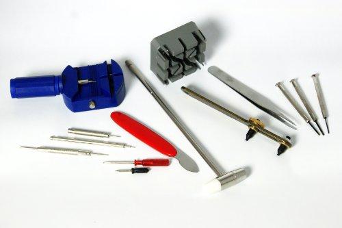 Prof. Uhrenwerkzeug Set Mini Schraubendreher Stiftaustreiber für Uhren 14-teilig