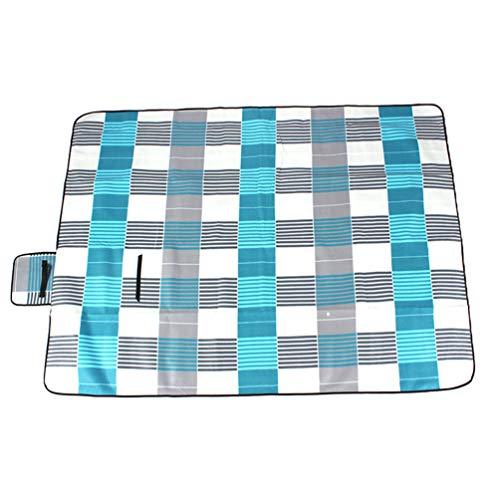 Sentaoa Couverture Tapis de Pique-Nique Imperméable Pliable Portable pour Camping Jardin avec Poignée 200 * 300cm