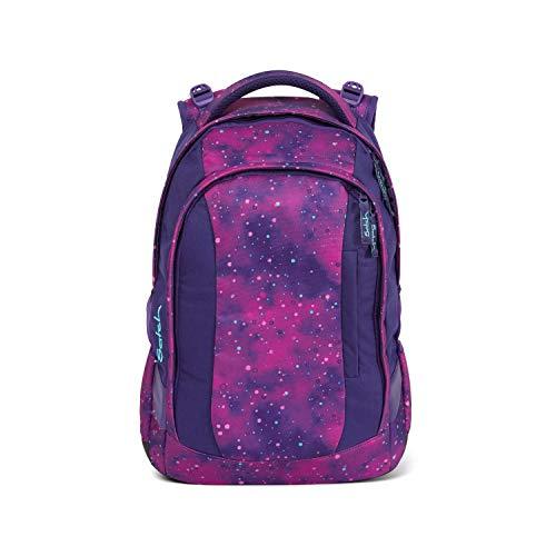 satch Sleek Stardust, ergonomischer Schulrucksack, 24 Liter, extra schlank, Lila