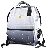 Fashion Japanese Backpack for Women & Girls - Waterproof Travel Backpack Purse - School Bookbags for College Student, Black