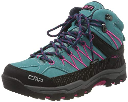 CMP – F.lli Campagnolo Unisex-Kinder Kids Rigel Mid Shoe Wp Trekking- & Wanderstiefel, Mehrfarbig (GIADA-BOUGANVILLE 30LE), 40 EU