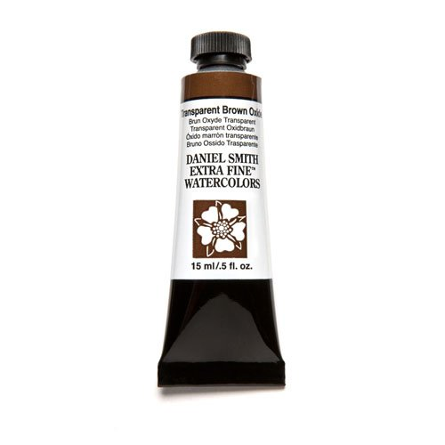 DANIEL SMITH Extra Fine Watercolor Paint, 15ml Tube, Transparent Brown Oxide, 284600129