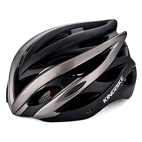 Lxj Fahrradhelm für Herren, bequem, atmungsaktiv, Rennrad-Helm, vollständig geformter Fahrradhelm (Schwarz-Tai, Vorkopf: 56 - 59 cm)