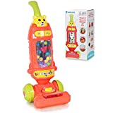 Pretend Play Toy Vacuum Cleaner for Toddlers with Lights & Sounds Effects & Ball-Popping Action Washable Cloth,Pretend Play Activities Housekeeping Toys Gift for Boys Girls Toddlers Ages 3 4 5 6, Red
