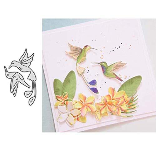 Metalen snijmatten, schattig vogelreliëf sjabloon doe-het-zelf Scrapbooking papier Festival kaart maken schimmel Craft Decor Gift