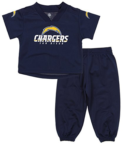 Outerstuff NFL Infants and Little Boys Extra Point Shirt and Pants Set, San Diego Chargers, 12 Months
