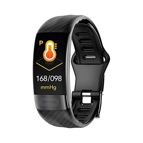 Monitor de Ritmo cardíaco de la Banda PPG Pulsera Reloj de prestigio de Sangre MONTR Pulsera Inteligente (Color: Negro) DAKSL (Color : P11 Black)