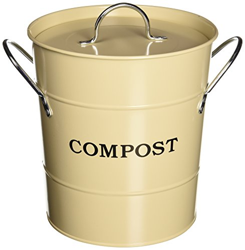 Exaco CPBG 01 1-Gallon 2-in-1 interior Compost cubo, color verde