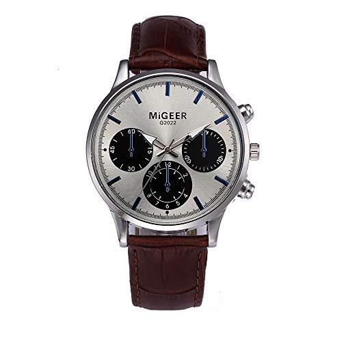 Luckhome Horloge voor dames en heren horloge armband vrouwen met lederen armband zakelijk klassiek analoog kwarts dun design leer retroband legering A-linie C C