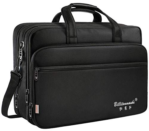17 inch Laptop Bag, Travel Briefcase with Organizer, Expandable Large Hybrid Shoulder Bag, Water Resisatant Business Messenger Briefcases for Men and Women Fits 17 15.6 Inch Laptop (17 inch)