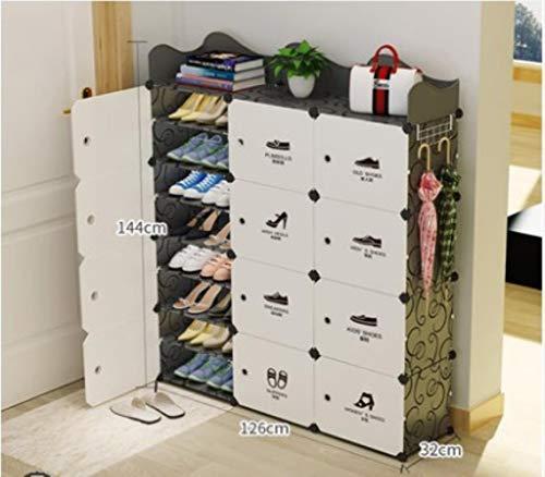 YAOHM Multi-capa zapatero Asamblea a prueba de polvo zapatero Simple zapatero para el hogar Doorway, 19
