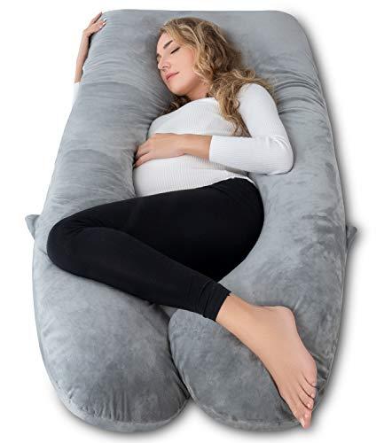AngQi 60 inch Pregnancy Pillow U Shaped, Full Body...
