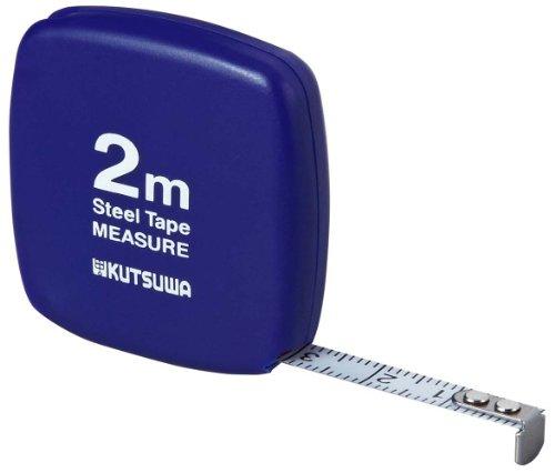 クツワ 超薄型メジャー 2m ブルー