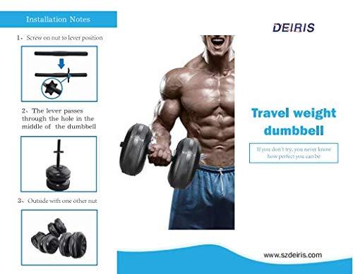 Dumbbells Maxmartt Water Filled Dumbbells Weight Adjustable Hand Weights Set Bodybuilding Exercise Equipment Dumbbells Kit