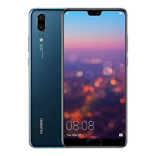 """Huawei P20 - Pack De Funda Y Smartphone De 5.8"""" Con Android 8, 128 GB, 4 GB RAM, Cámara Dual Leica) Azul [Exclusivo Amazon]"""