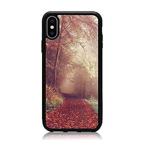 Carcasa de teléfono Personalizada Compatible con Autumn Samsung Scenery iPhone Xiaomi Redmi Note 10 Pro Note 9 8 9A Poco M3 Pro Poco X3 Pro Funda Cajas del teléfono Negro TPU Delgado Protector