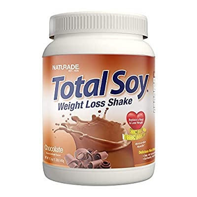 Naturade Total Soy Protein Powder and Meal Replacement Shakes For Weight Loss, Chocolate (15 Servings)