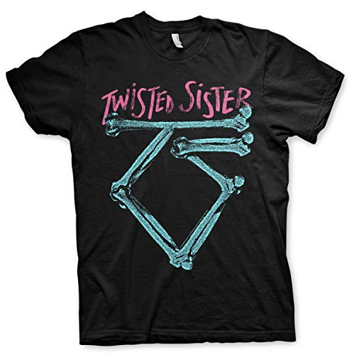 Officially Licensed Twisted Sister Washed Logo Mens T-Shirt Big & Tall Mens...