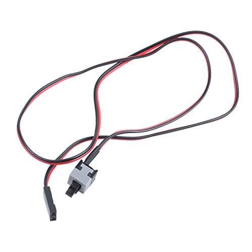 Exanko 20.5 Pulgada Largo Cable del Interruptor del Boton de Potencia para PC Interruptores Restablecer Computadora
