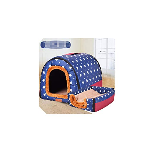 Dog Beds for Small Medium Dogs Dog Crate Pet House Puppy Bed Outdoor Kennel Removable Cover Pets Blanket,C,L