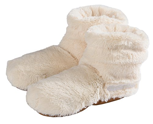 Warmies Slippies Boots deluxe - beige, Größe 37 - 42